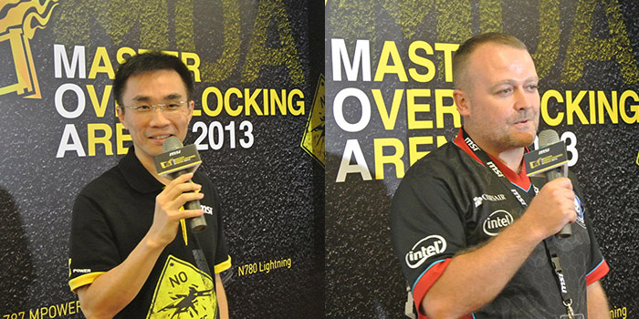 MSI's Ted Hung (left) and Corsair's Tim Handley (right) personally congratulated all the participants during the event.