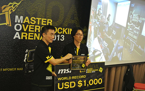oc_windforce awarded a total of US$ 1,000 for breaking the Intel XTU (x6 CPU) record.