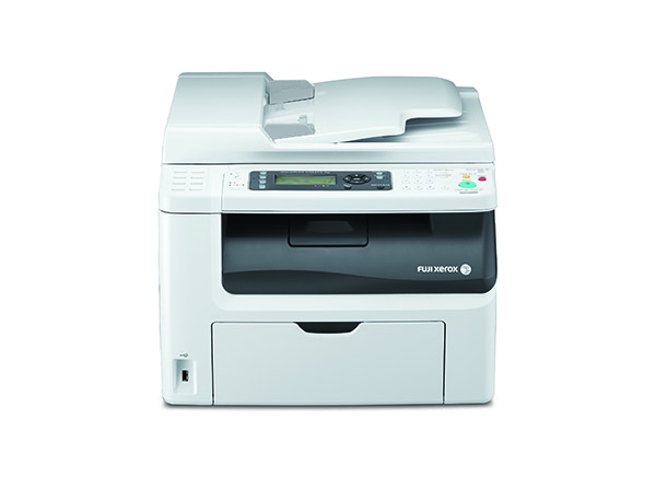The DocuPrint CM215fw provides multifunction features such as scan, copy, and fax.