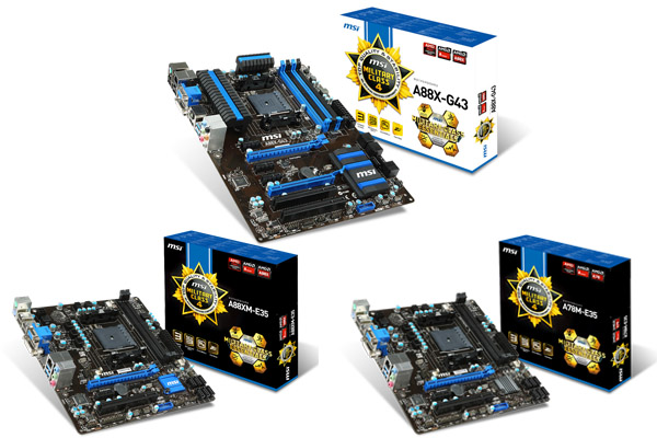 Msi Launches Fm2 Military Class 4 Motherboard Lineup