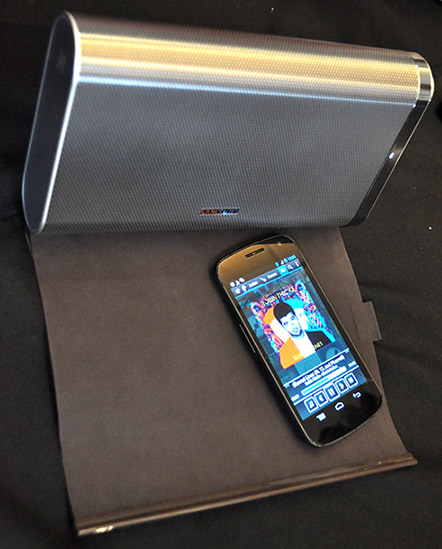 The Samsung DA-F61 with its flexible cover attached.