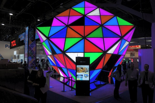 Display specialist TCL had this huge 'Rubik's Cube' built to house their most prized TV models for show.