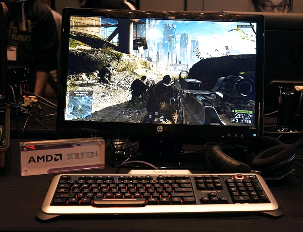 The Kaveri Briefcase PC was fluid in Battlefield 4 gameplay.