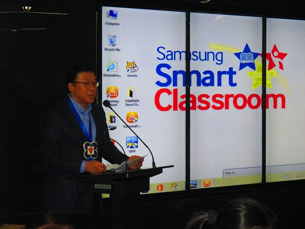 Samsung Electronics Philippines, Corporation's (SEPCO) President and CEO Chung Lyong Lee
