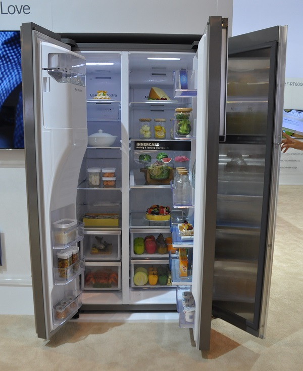 Apart from its sheer size, the Samsung Food ShowCase refrigerator is notable for its compartments.