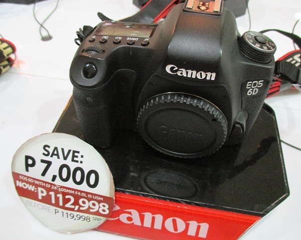 Bundled with an EF 24-105mm lens, the Canon EOS 6D is on offer for PhP 112,998.