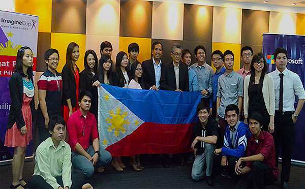 DOST – ICT Office Executive Director Usec. Louis Casambre with the 15 semi-finalists of the Imagine Cup 2014