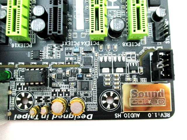Interestingly, Gigabyte gave much focus on the board's audio components.