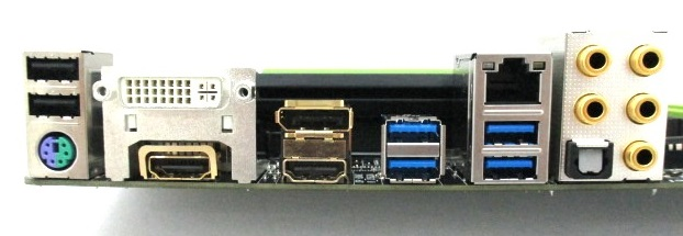 Gigabyte has made the audio connectors and some of the video outputs gold-plated in order to eliminate electrostatic interference and enhance signal conductivity.