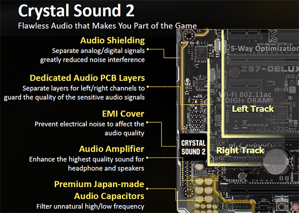 Onboard audio gets amped up to the next level with the Crystal Sound 2.