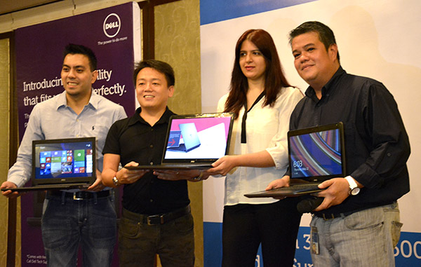 Dell executives show off the latest Inspiron 14 3000 and 15 5000 Series laptops.