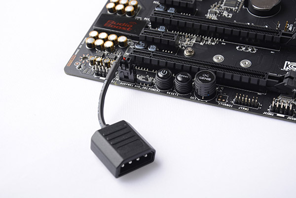 MSI also included its Direct Audio Power connector to further the onboard audio's power.