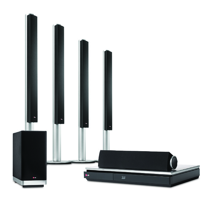 LG's BH9540TW 3D Blu-Ray home theater system can be bundled with a UB980T purchase or bought separately.