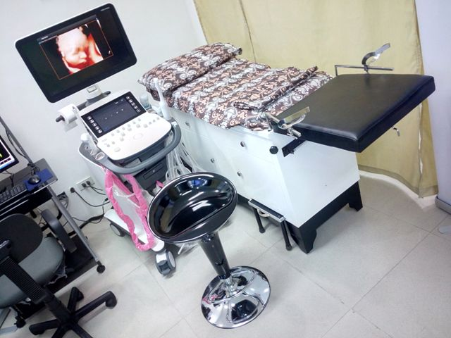 Apart from the actual ultrasound device, the Medison UGEO WS80A is supplied with other equipment.