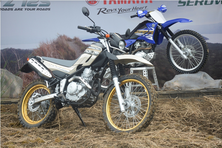 Yamaha off road world xtz 125 and serow 250 launch for Yamaha road motorcycles