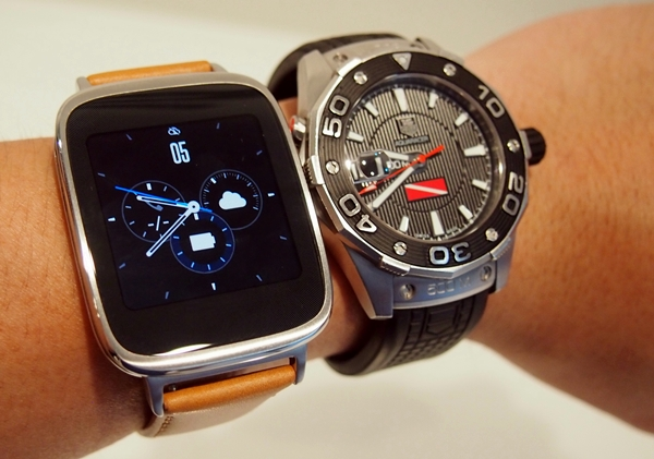 The ASUS Zen Watch can hold its own against the traditional watch in terms of aesthetics.