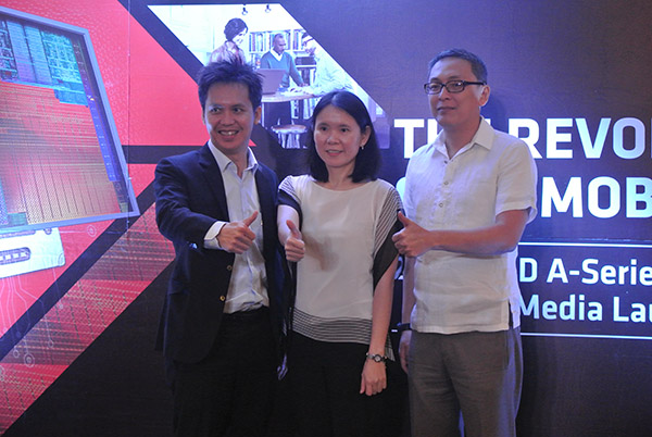 Executives from AMD Philippines locally introduce its mobile APUs.