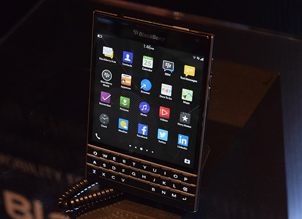 The BlackBerry Passport aims to take productivity while on-the-go to the next level with its square touch screen and QWERTY keyboard.