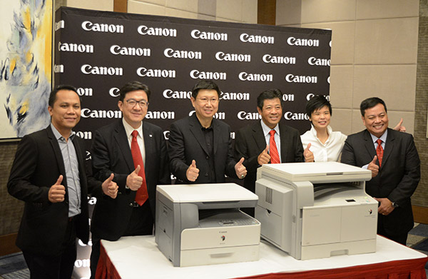 Canon and MSI-ECS executives present their two newest printers.