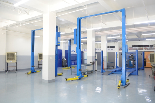 Ford invested a total of P2.5-million in the construction and setup of the new training facility.