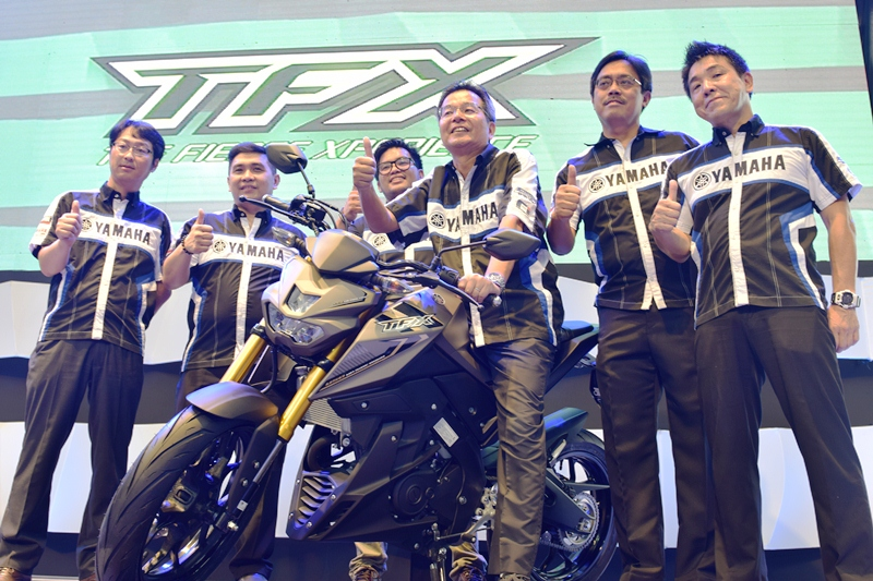 Yamaha Motor Philippines, Inc. executives, led by President Toru Osugi, spearheaded the launch of the TFX-150 in the country.