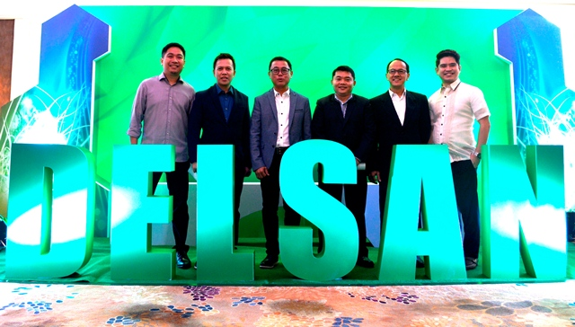 Delsan Office Systems Corporation executives (from left to right): Dondi Santos, Marketing Manager; Glenn Gucor, Vice President and COO; Ody Santos, President and CEO; Roberto Tagamolila, AVP-Technical Service; Toynbee Navarro, General Manager-VisMin; and Glenn Icaro, Sales Director.