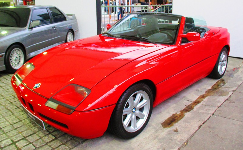 Apart from the current models, iconic BMW cars of the past were also showcased during the event. Pictured is the BMW Z1 (1988-1991).