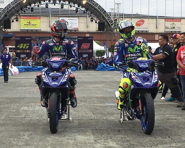 Top racers Valentino Rossi and Maverick Viñales kick off Yamaha