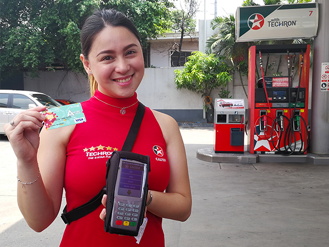 Have a seamless gas-up experience with Caltex through the Visa PayWave payment method.