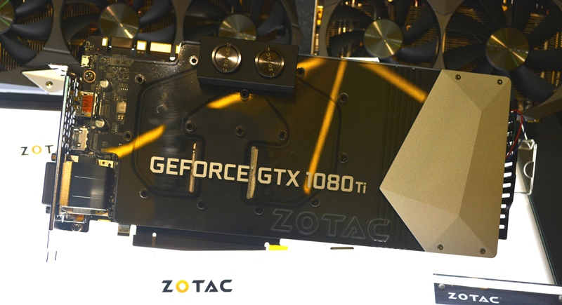 The Zotac GeForce GTX 1080 Ti ArcticStorm utilizes a waterblock cooling with 0.33mm micro-channel.