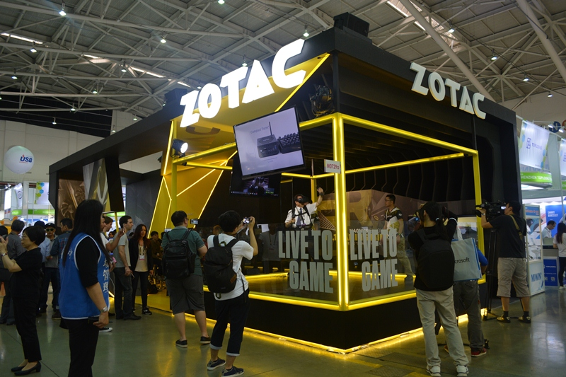 The Zotac booth at Computex 2017.