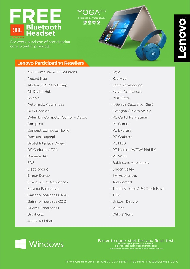 The list of participating stores. (Click to have a larger view.)