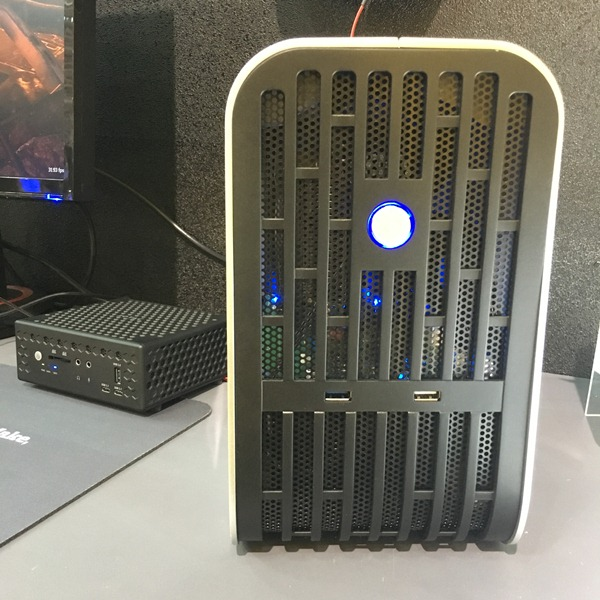 Front view of the external graphics dock.