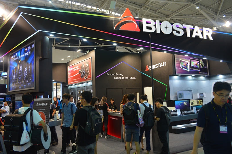 biostar, computex 2017, motherboard, racing, x299gt9, x370gt7, x370gtn, amd, radeon, rx580, x370,   racing p1, mini pc, bitcoin, bitcoin mining, tb250-btc, graphics card
