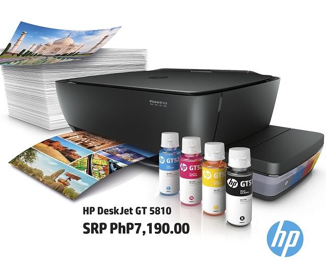 hp, deskjet, gt 5810, gt 5820, all-in-one, wireless printer, hp original ink, ink tank system, promo, free warranty, discount