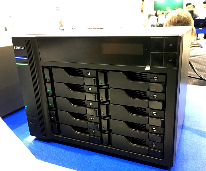 asustor, nas, network attached storage, computex 2017, intel core i5, solid state drive, ssd, hard disk drive, hdd, as7004t, as7010t, i5-4590s, quad-core, 4k ultra hd, asus