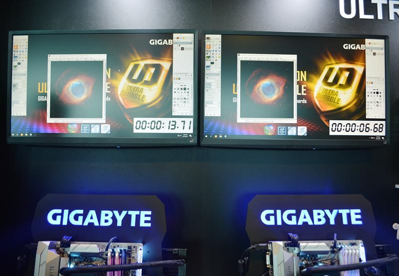 gigabyte, computex 2017, gaming, deep learning, taipei 101, intel x299, x299 aorus gaming 9, x299 aorus ultra gaming, x299 aorus gaming 3, motherboard, x299 soc champion, g.skill, intel optane, ga-z270x-designare, nvidia, quadro gp100, max-q, aorus x5 md, triton 700, rog zephyrus, brix gaming vr