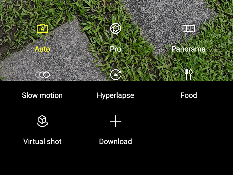 The camera modes of Note8.