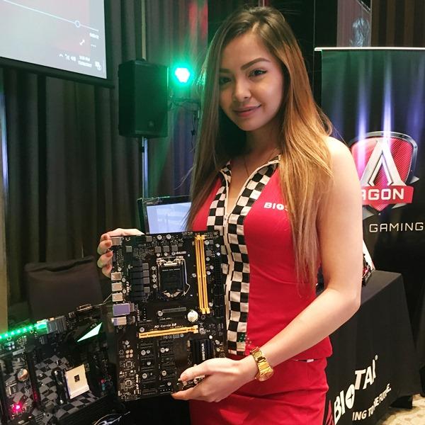taiwan, biostar, motherboards, computex 2017, kevin cheng, ea global, biostar racing, realtek, alc1220, cryptocurrency, bitcoin, mining, amd am4, intel z270, intel b250, amd x370, chipset