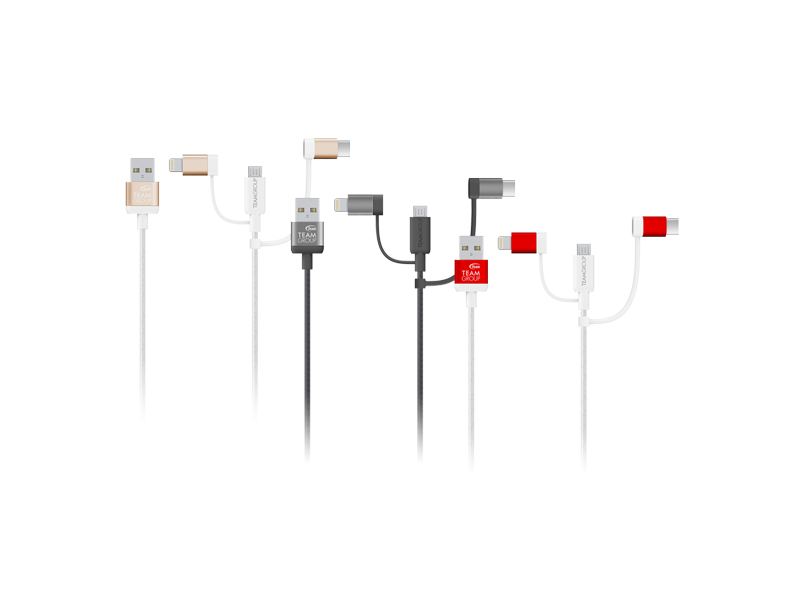 android, cables, ios, team group, mostash reader, wcoc, 3-in-1 cable