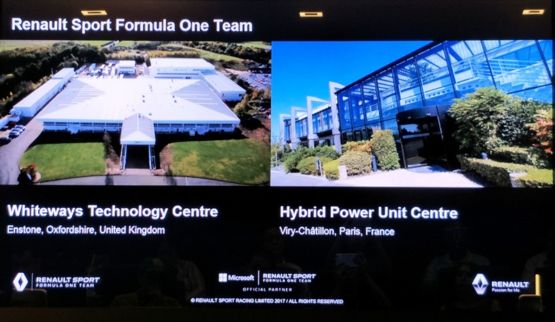 microsoft, renault, digital transformation, big data, analytics, lotus f1 team, dynamics 365, artificial intelligence, machine learning, cloud computing, microsoft cloud, azure, powerbi, hololens, formula one, singapore grand prix, rs 17, jolyon palmer, race car, racing