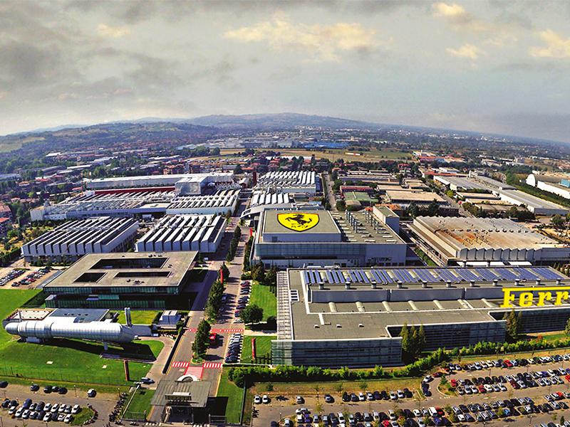 The Ferrari Factory in Maranello, Italy.