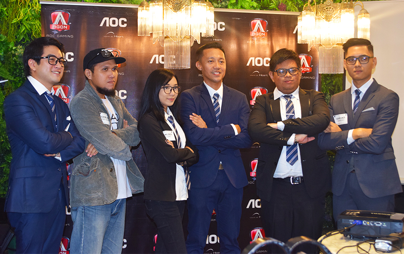 AOC AGON ambassadors with AOC Sales Manager Jack Salamia (third from right).