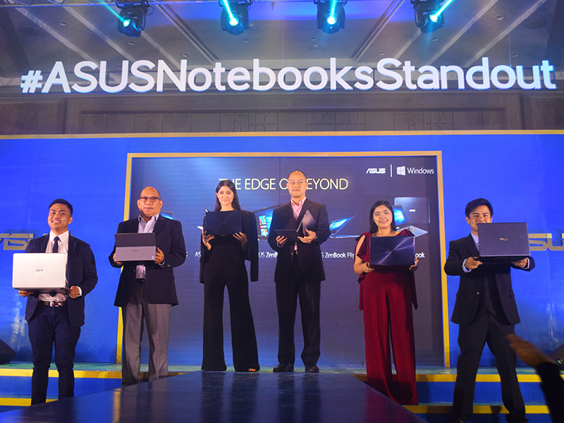 ASUS Philipines executives with Maureen Wroblewitz (middle) at the ASUS Edge of Beyond Event held in Taguig City.