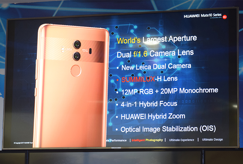 Summary of the Huawei Mate 10's camera specs.
