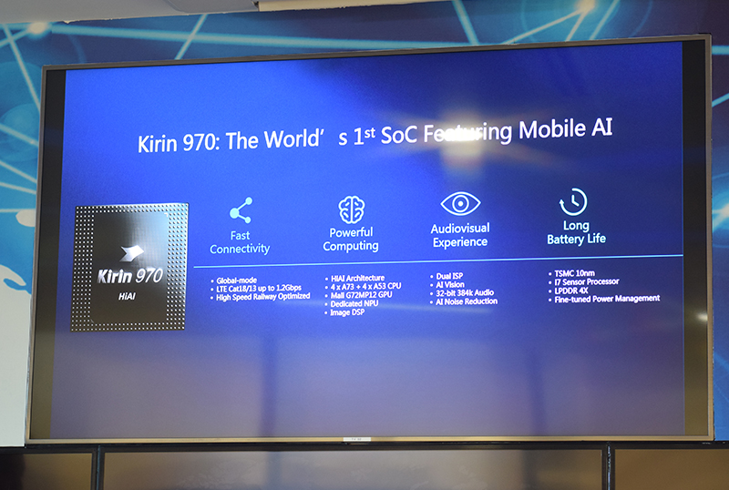 A summary of Huawei Mate 10's powerful features with the Kirin 970 processor.