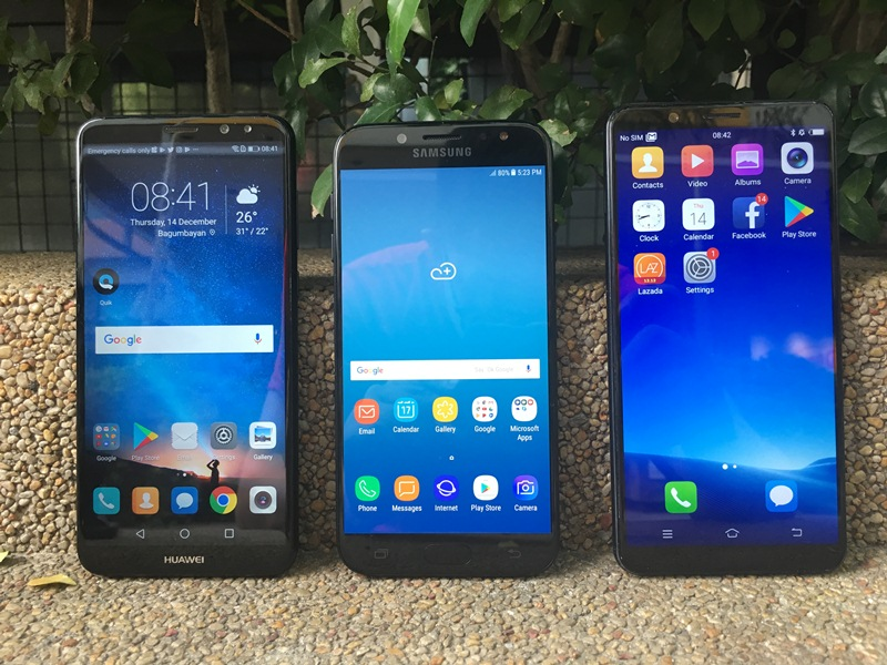 midrange, smartphones, selfies, christmas, huawei nova 2i, oppo f5 6gb, oppo f5 youth, samsung, galaxy j7 pro, vivo v7+, android 7.0 nougat, ai beauty recognition technology, groufies, apple, iphone 6s, chinese, east asian, face beauty 7.0