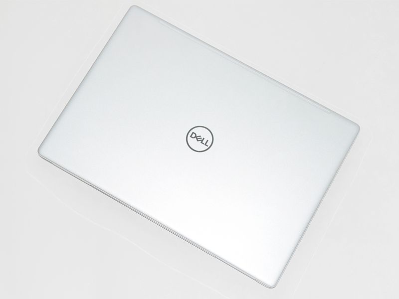 Sitting in the middle of the metallic lid is the familiar Dell logo.